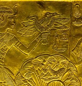 Tutankhamen and his wife, Queen Ankhesenamun.