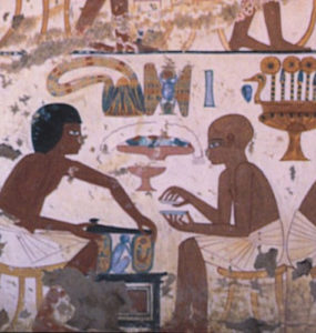 Depiction of craftworkers and artists.