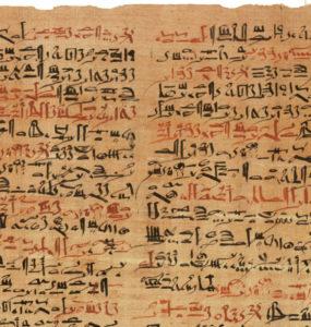 The Edwin Smith Papyrus.