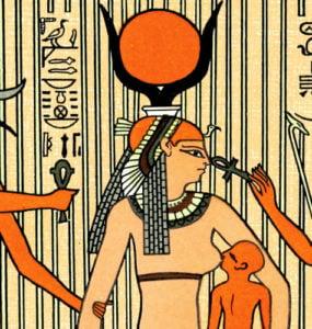 Isis suckling Horus.