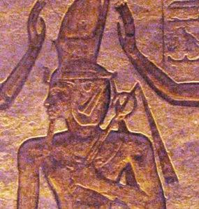 Seth and Horus adoring Ramesses.
