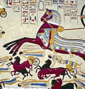 Ahmose fighting back the Hyksos.