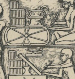 Depiction of Government Scribes working.