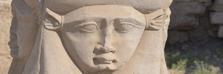 Stone Carving of Hathor.