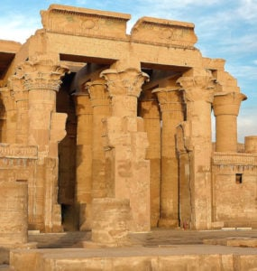 Temple of Kom Ombo, in the town of Kom Ombo.