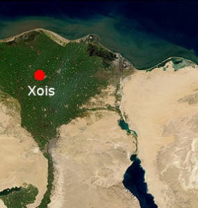 Location of Xois in Ancient Egypt, as seen from orbit.