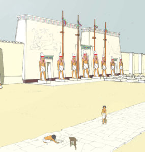 The Great Temple of Ptah at Memphis.