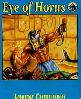 """Cover art from the """"Eye of Horus"""" computer game."""