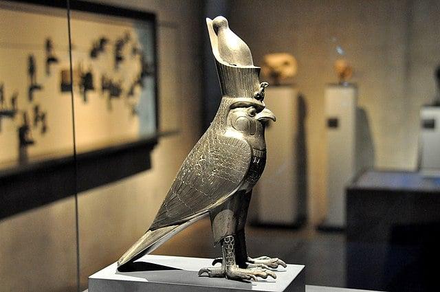 Horus depicted as a falcon.