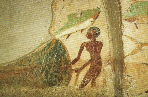 Ancient Egyptian fishing / Artwork on Tomb of Anchtifi.