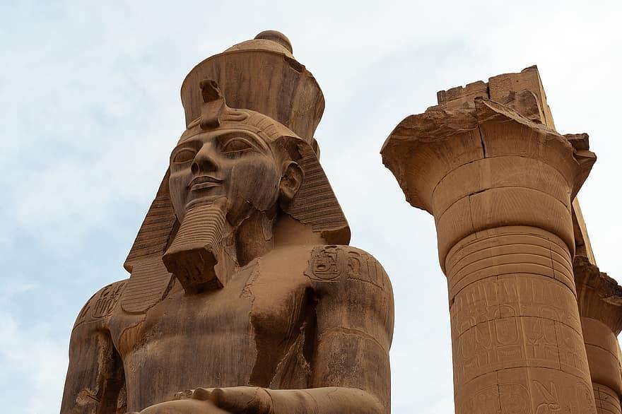 Egyptian monuments.