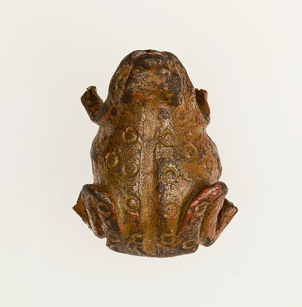 Frog Amulet / Late Period, Saite, Dynasty 26 / Made from Copper alloy.