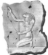 Heket depicted on a board.