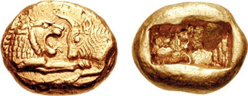 Croeseid / Lion and bull coin.