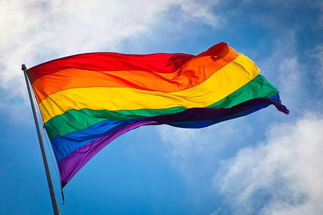 Rainbow flag / Peace flag.