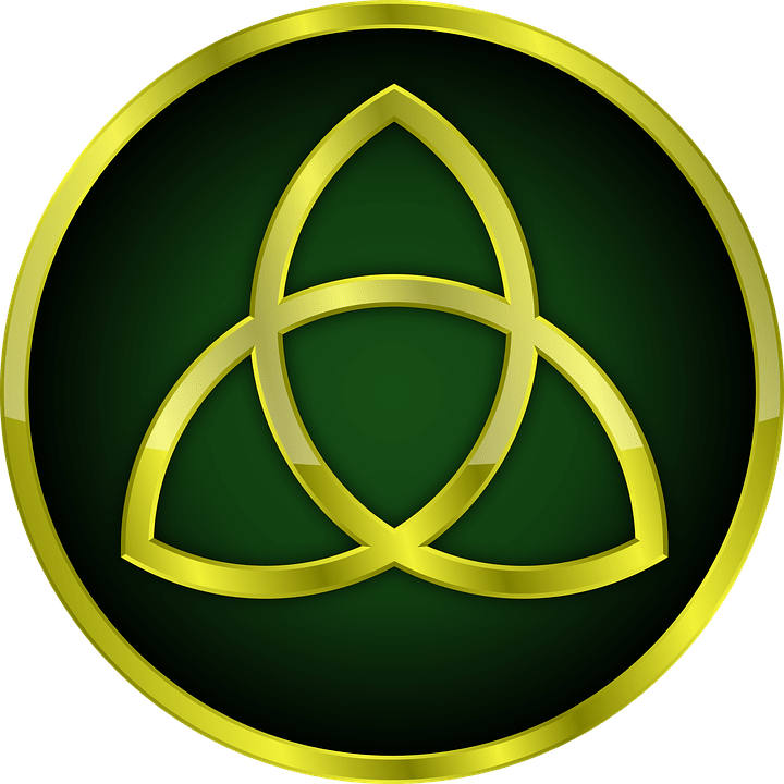 The Triquetra, also known as the Trinity Knot, was adopted by Christians from the Celts.