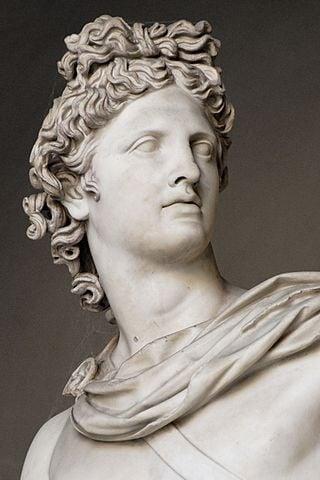 Statue of Greek god Apollo.