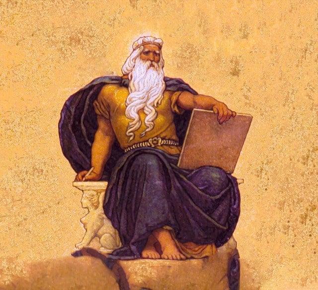 Zeus, god of sky and thunder.
