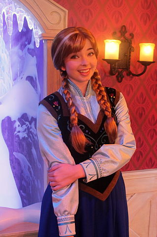Anna meet-and-greets at Disneyland theme park.