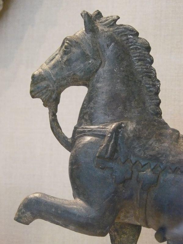 Bronze statuette of a Roman horse.